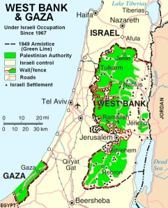 Map of part of Israel