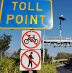 toll point sign