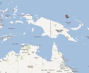 A map showing Manus Island