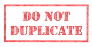"""Do Not Duplicate"" stamp"