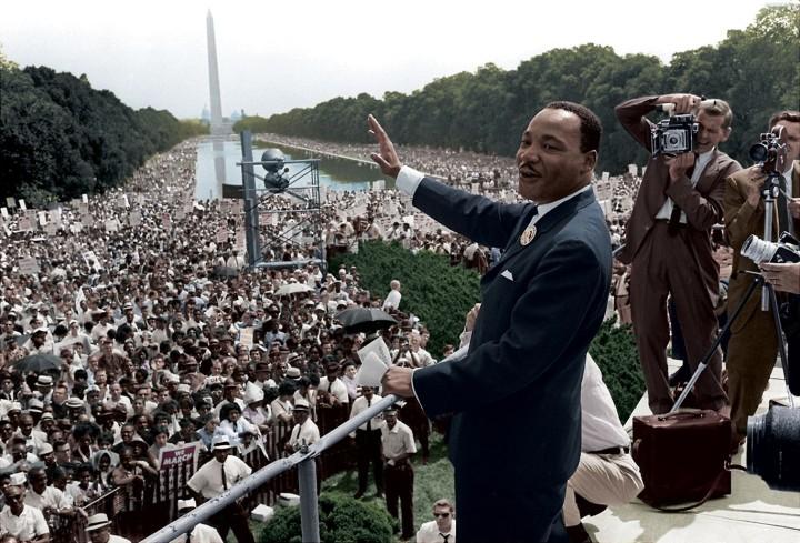 A photograph of MLK