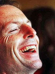 A picture of Abbott Laughing