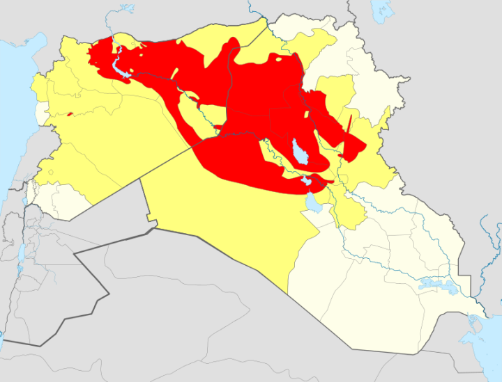 Map of ISIS territory