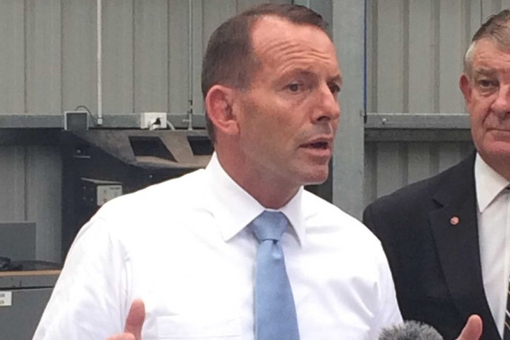 a pic of abbott talking
